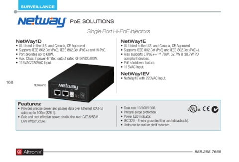 Page 168 - Altronix Product Guide