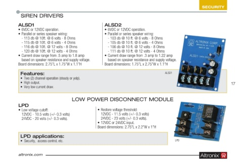 Page 17 - Altronix Product Guide Wiring Ohm Speakers on