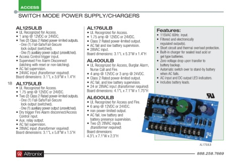 Page 18 - Altronix Product Guide